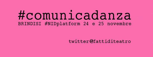 #comunicadanza #comunicateatro #nidplatform @Dansystempuglia http://pic.twitter.com/NSAcurap