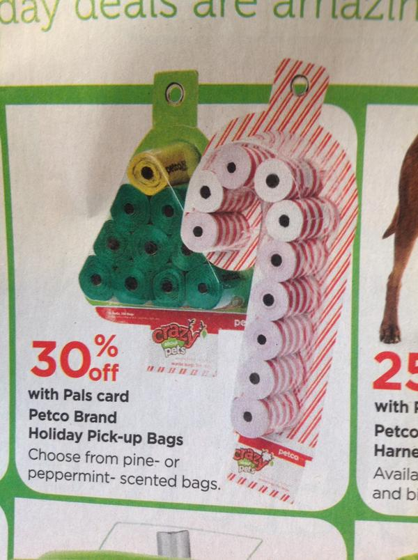 Holiday themed dog poop bags. Your choice of festive design AND scent. http://pic.twitter.com/tqrmUsaH