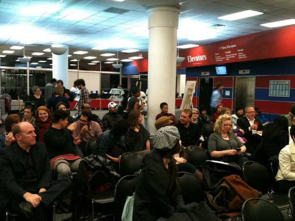 Awesome crowd at #aweyyc http://pic.twitter.com/3zm9b1yR