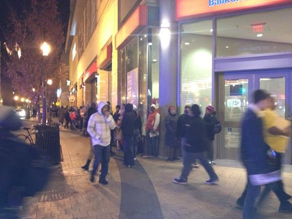Line outside the Columbia Heights Target right now. Nuts. How is Black Friday even a thing?? #bedtime http://t.co/F5Cp9A0E