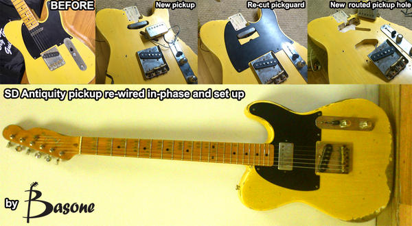pickup install basone guitars. Black Bedroom Furniture Sets. Home Design Ideas