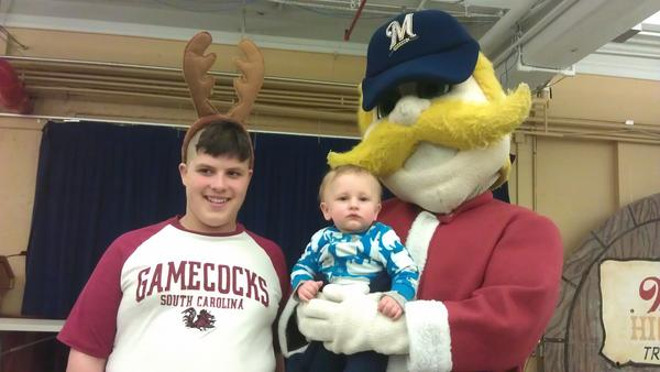 @Bernie_Brewer great time at the Miller Holiday Lites. They are amazing every year. #holiday4packs http://pic.twitter.com/morY5qLI
