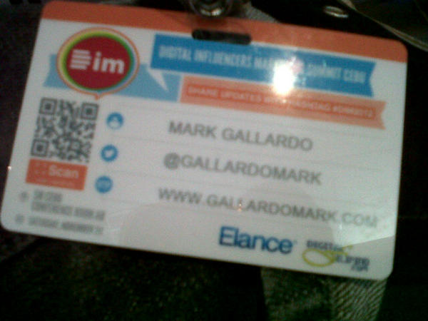 RT @gallardomark: Attending digital influencers marketing summit cebu #dim2012 http://pic.twitter.com/TYalMtBS
