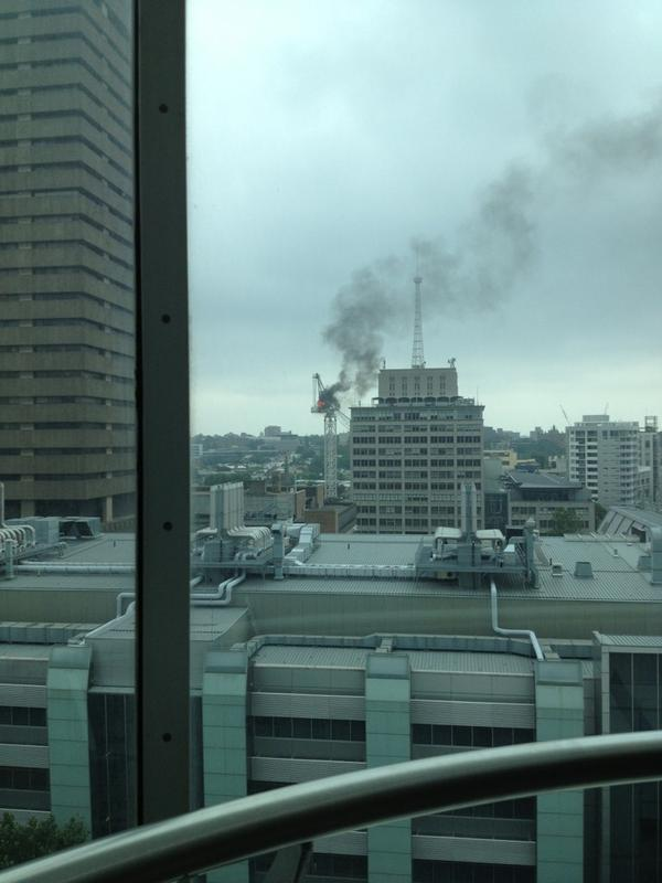 RT @jdub: From ABC, looking past UTS (so the Ultimo side of B'way, between UTS and shops.) RT @trupunx: Uts crane fire @abcnews http://pic.twitter.com/GiXg9mGH