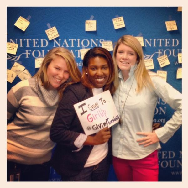 #Giving has never been so fun! MT @heatherfaison: I gave to @GirlUp on #GivingTuesday w/ my goons @Dunnezo @Mandysugrue http://pic.twitter.com/7naUh2Rv