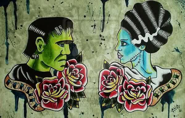 Frankenstein Tattoo (@FrankensteinThe) | Twitter  Frankenstein Ta...