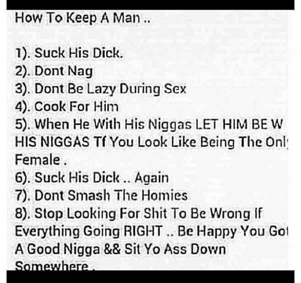3 things to keep a man happy