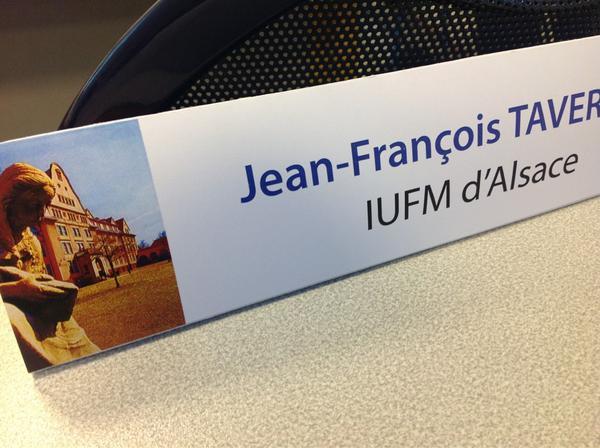 """Journée de formation et d'échange de pratique """"#TICE et #apprentissages"""" organisée par @iufm_unistra http://pic.twitter.com/CmKiO5Nb"""