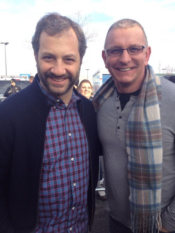 @juddApatow great to meet you this morning and love what you do . http://pic.twitter.com/AwYyrG3J