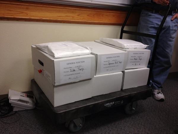 They just brought in the last cart of ballots here in the Douglas County recount. #speedcounting http://pic.twitter.com/FibyXZm8
