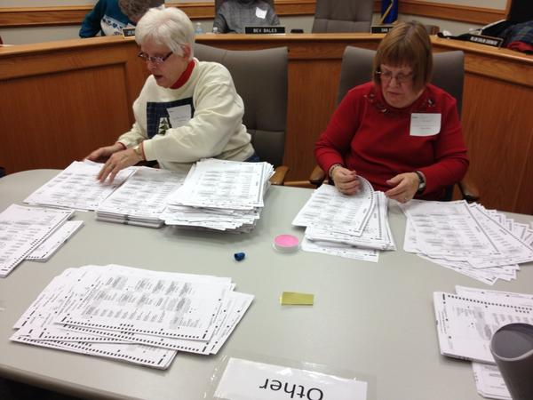 Still no shift in the 8B vote  totals. Belle River, Leaf Valley, Osakis townships, Miltonia and Nelson recounts done. http://pic.twitter.com/XjxJoLiB