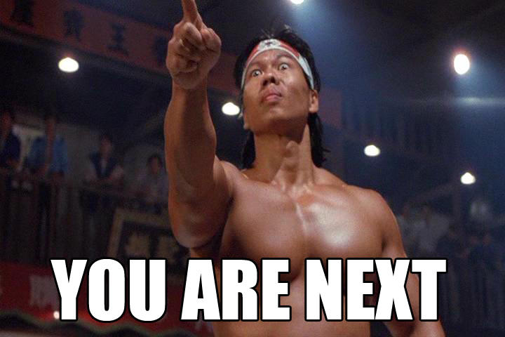 Chong Li Bolo Yeung Quote Brick Bloodsport Movie MMA Parody T Shirt