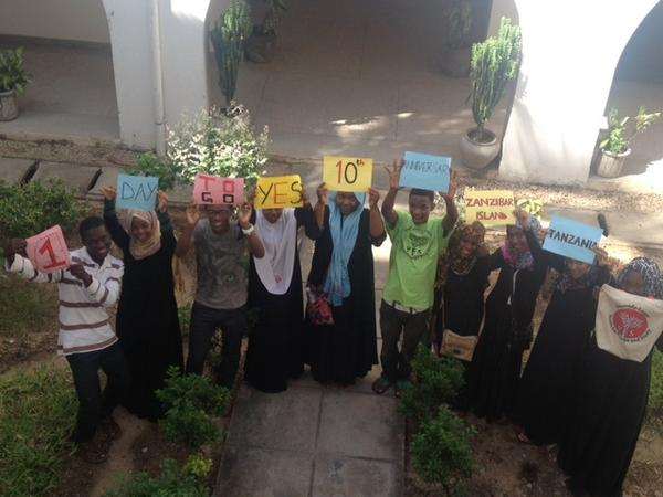 @yesprogramnews YES alumni in Tanzania are celebrating the 1 day left until the #KLYES10 Virtual Kickoff Party! http://pic.twitter.com/RYF5Mzhd