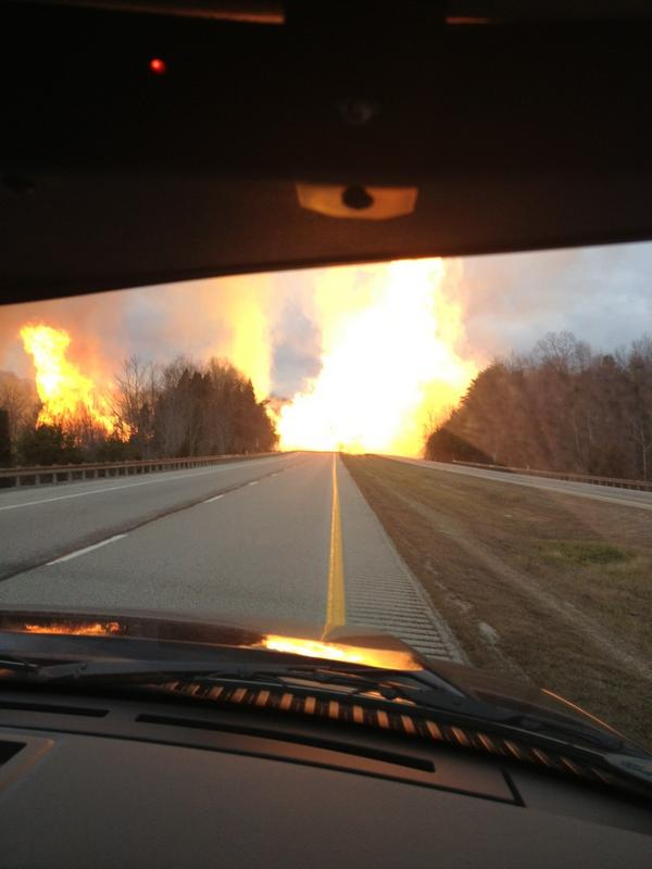 Picture of Sissonville gas line explosion taken by Kan Co Emerg Services: http://pic.twitter.com/CvYIxRBQ