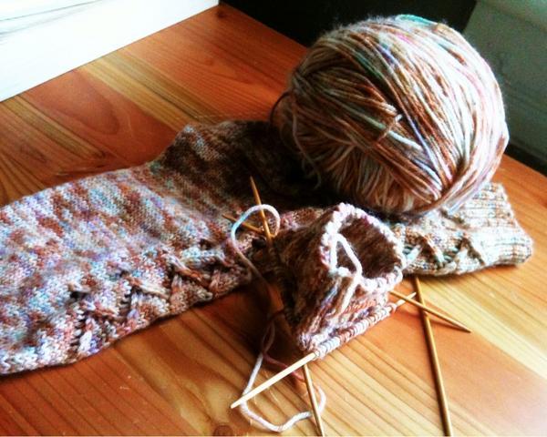 handknit handdyed socks!
