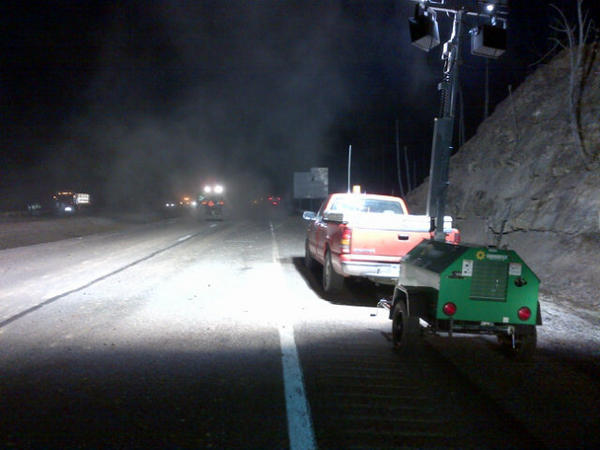 Our crews have arrived & started the process of cleaning, milling & paving back I-77. http://pic.twitter.com/NXhBAyqK
