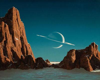 Fakstro Indonesia On Twitter Ilustrasi Pemandangan Saturnus Ketika