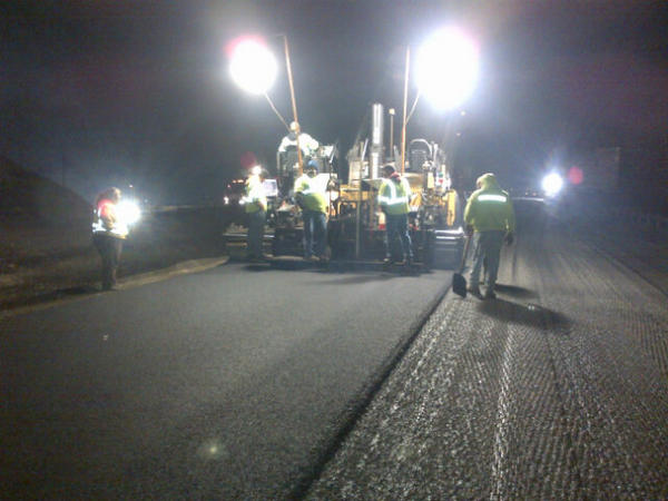I-77 Northbound paving. http://pic.twitter.com/kVAJOiTh