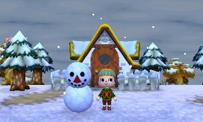 とび森 雪だるま 家具