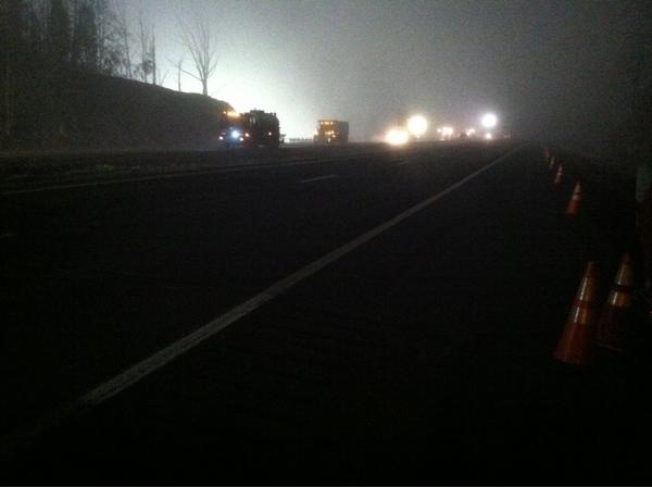 Road crews paving I77 South. Live updates begin on Wsaz at 5 a.m. #WSAZ http://pic.twitter.com/fOOIS4C0