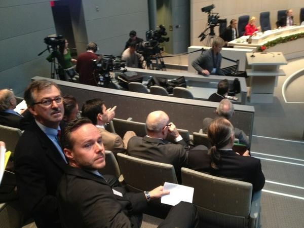 The Katz Group reps take their seat at city hall. #yeg #yegcc #yegarena http://pic.twitter.com/ywB7eHMS