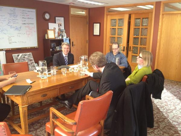 Talking to Pres Obama with MNs who shared #my2k stories on why we need to pass middle class tax relief now. http://pic.twitter.com/8P4XNFmC