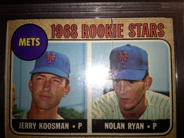 1968 Nolan Ryan Topps Or Milton Bradley Blowout Cards
