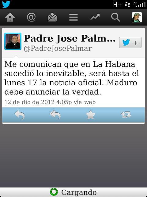 @mariabp2012 Sra Bolivar que opina de estas opiniones necrofilas del Padre Palmar? Creen q son adecuadas? http://pic.twitter.com/qFC177ch