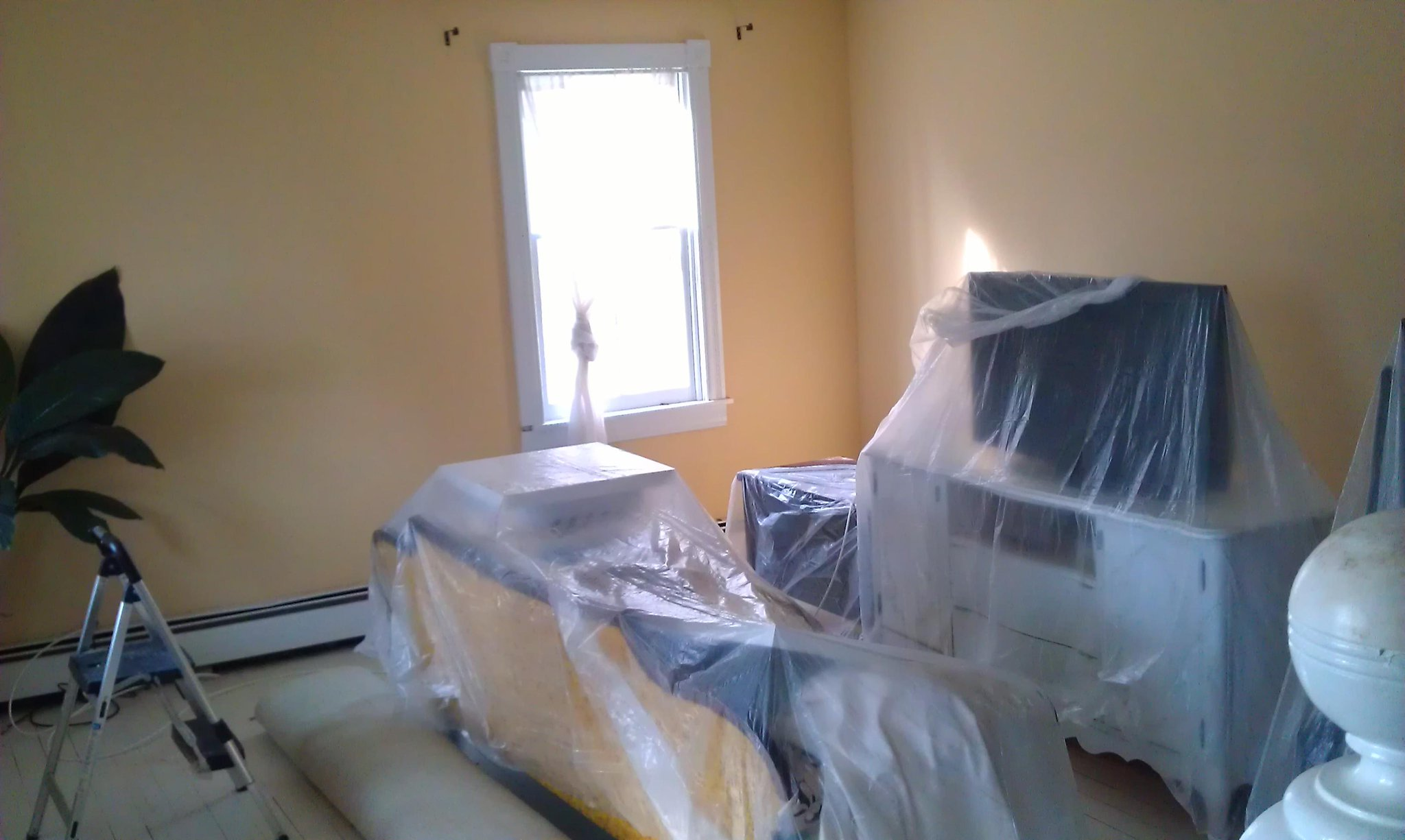 Living room in progress