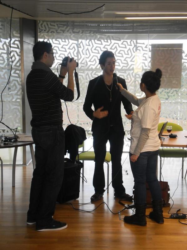 interviewing @AxSaucedo  one of the the organisers of #RHoKSoton @Farnooshbr @ntibi04 http://pic.twitter.com/wQtxNES0