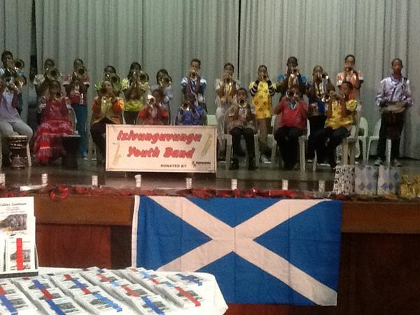 Wonderful multicultural experience - Izivunguvungu Youth Band on St Andrew's night! Scotland in South Africa. http://pic.twitter.com/Vo2hCOOy