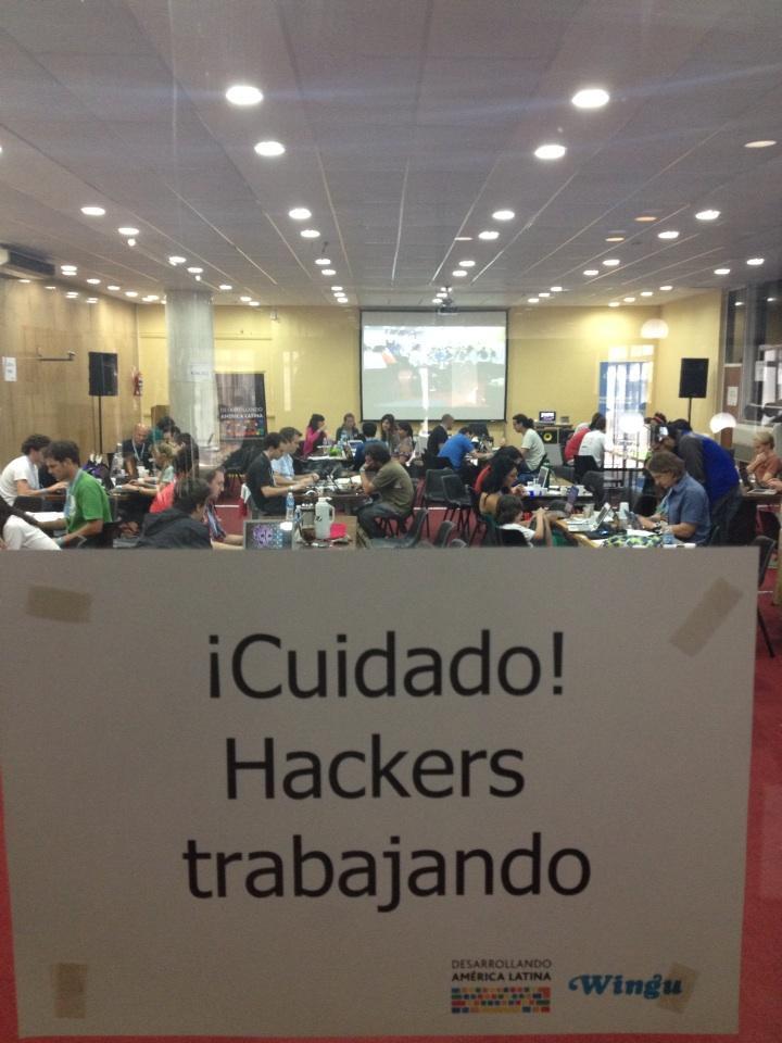 El hackatón de DAL2012 en el Centro Cultural General San Martín