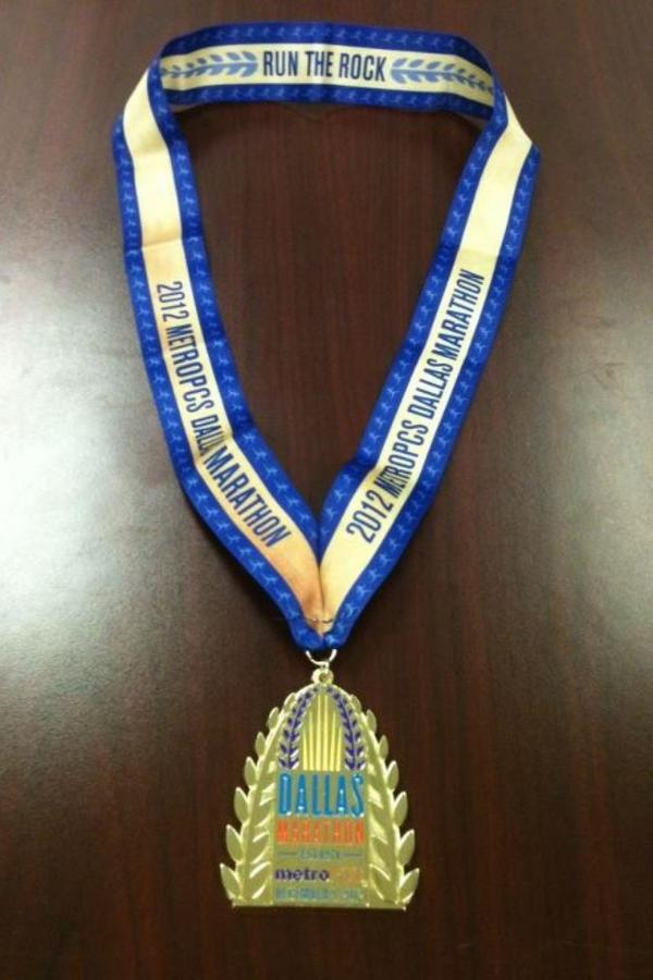 2012 MetroPCS Dallas Marathon Finisher's medal