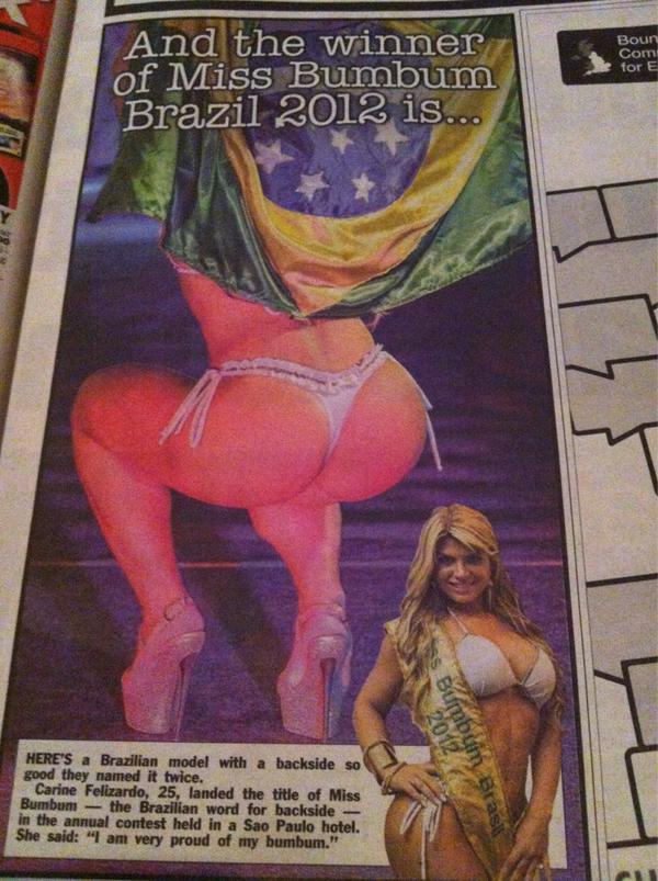 The winner of miss bumbum brazil 2012 http://pic.twitter.com/G377oGWB