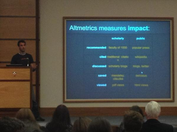 Altmetrics mines impact on the next scholarly web. #LSEimpact #scipolicy http://pic.twitter.com/0xSvdBit