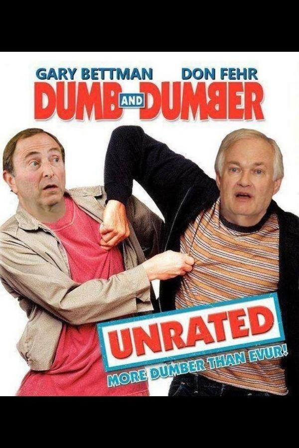 New movie starring Donald Fehr and Gary Bettman. #EndTheLockout http://pic.twitter.com/g5bRBcSF
