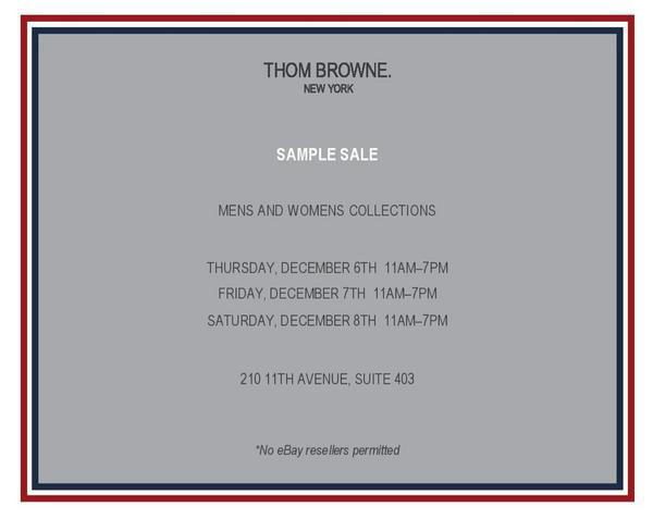 My experience at a thom browne sample in nyc: malefashionadvice.