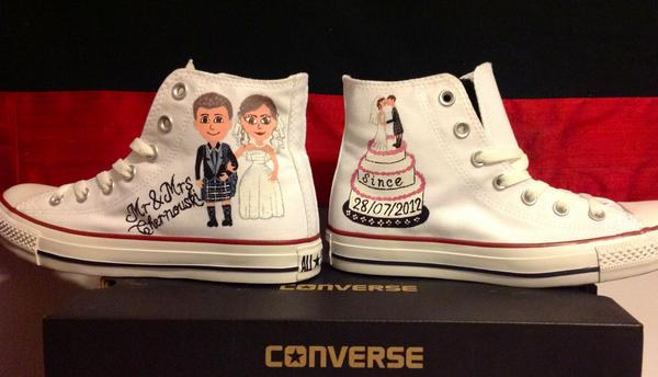 Custom Converse Fife On Twitter Bride An Groom Http T Co Spnnzhvu