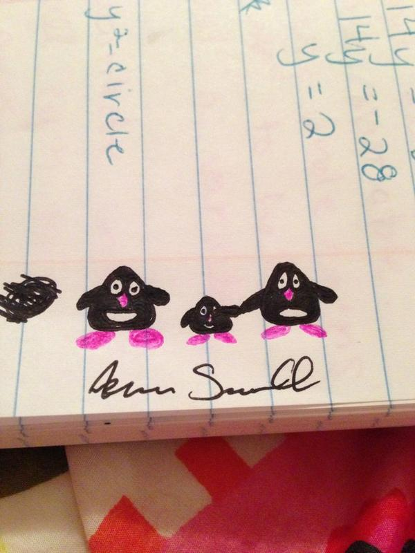 @sewell_aaron leaves masterpieces in my math notes. #penguincity pic.twitter.com/PtBDcpzZ