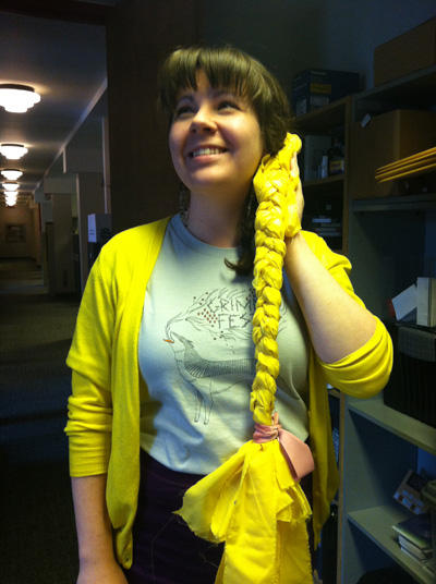 Are you coming to The Brothers Grimm for #GrimmFest? Sneak a peek at one of our photobooth props, a Rapunzel-braid! http://pic.twitter.com/j8uV717H