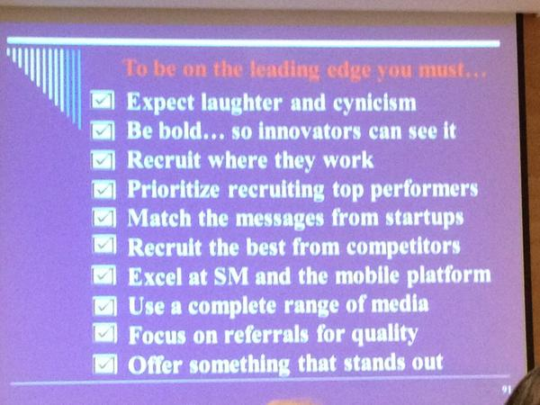 bold recruiting #hcievents may not be easy but it will be worth it. Go with no fear. http://pic.twitter.com/xljqB4PZ