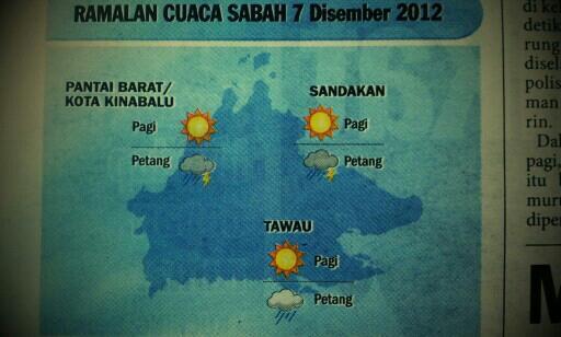 Amaran Cuaca Peringkat Waspada Di Sabah Labuan