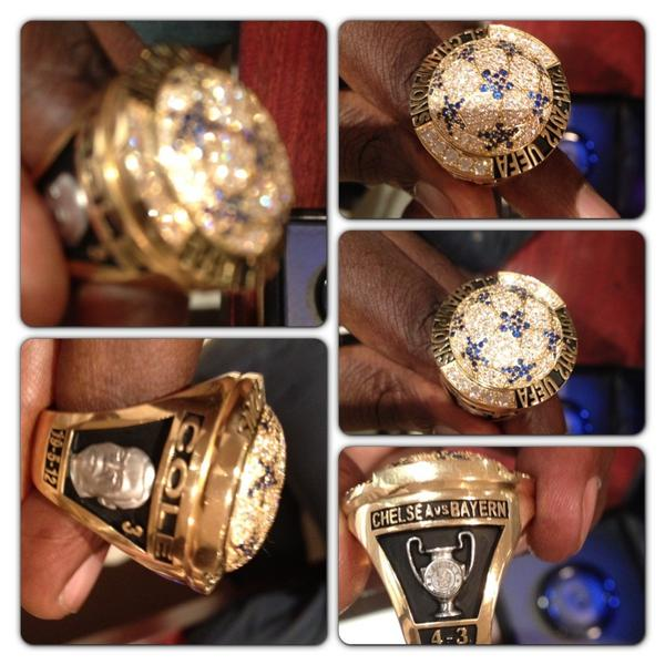 Pictures: Didier Drogba presents former Chelsea team mates with ring commemorating Champions League success