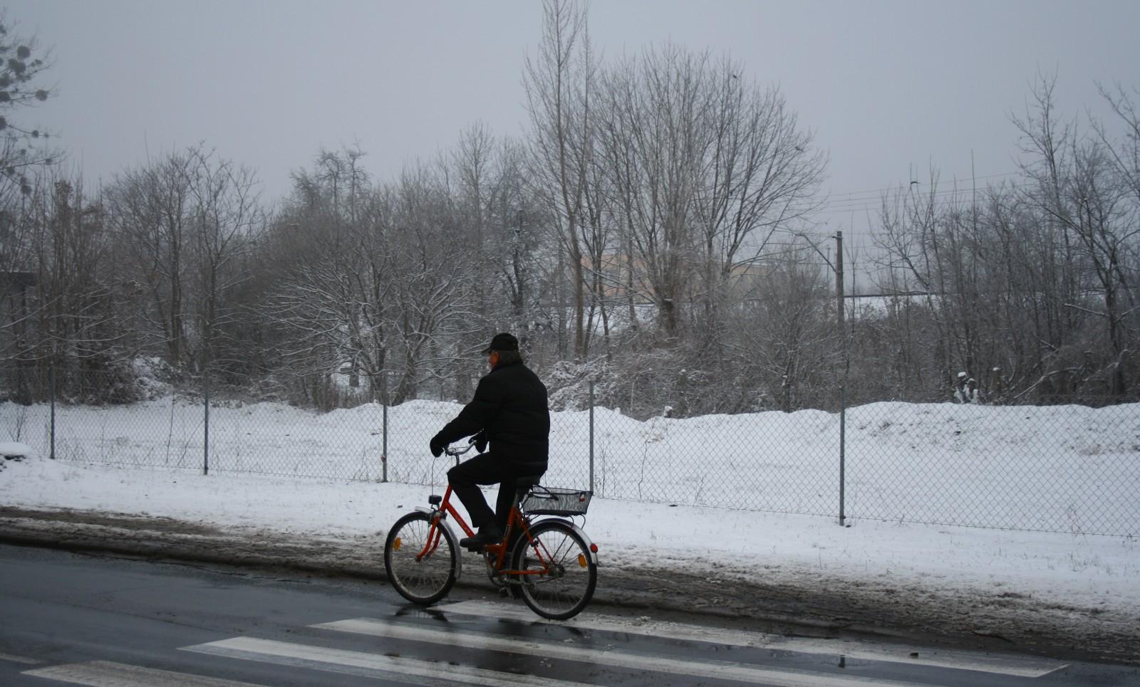 Rowerzysta zimą - blog rowerowy KochamRowery.pl