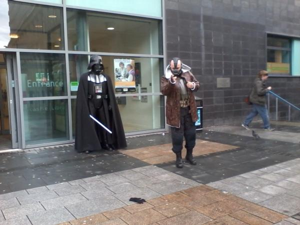 A normal sight today @ToonLibraries City Library for the Canny Comic Con 2012 #cannycc http://pic.twitter.com/j2acVhta