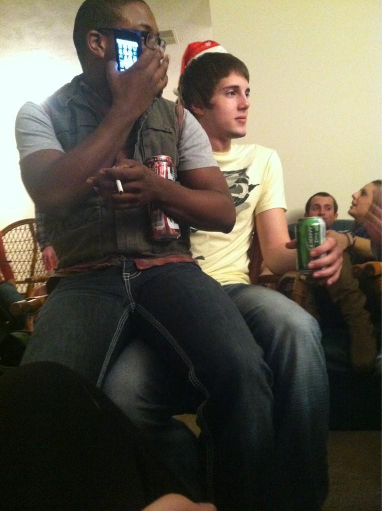 gay sit on lap