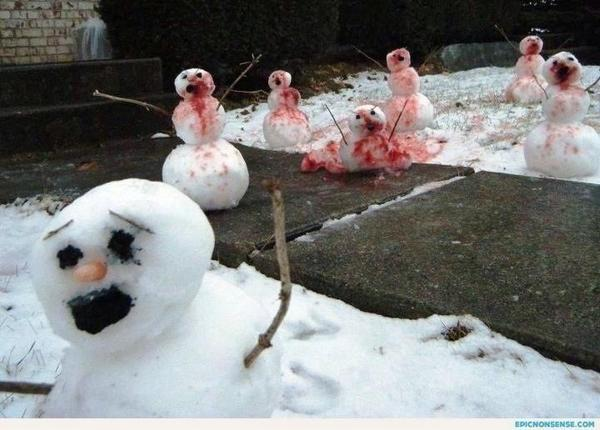 Image result for dead snowman