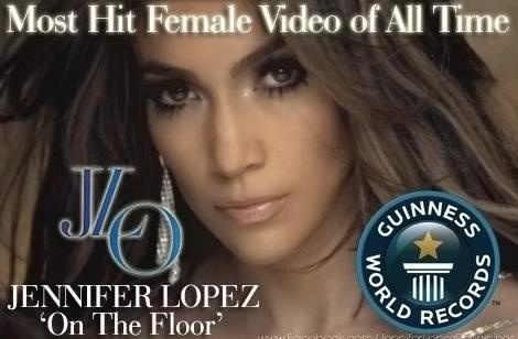 GUINNESS WORLD RECORD.. Most Hit Female Video of All Time goes to @JLO!!!! Congrats!! We're proud of you!!! http://t.co/85b6RwyW