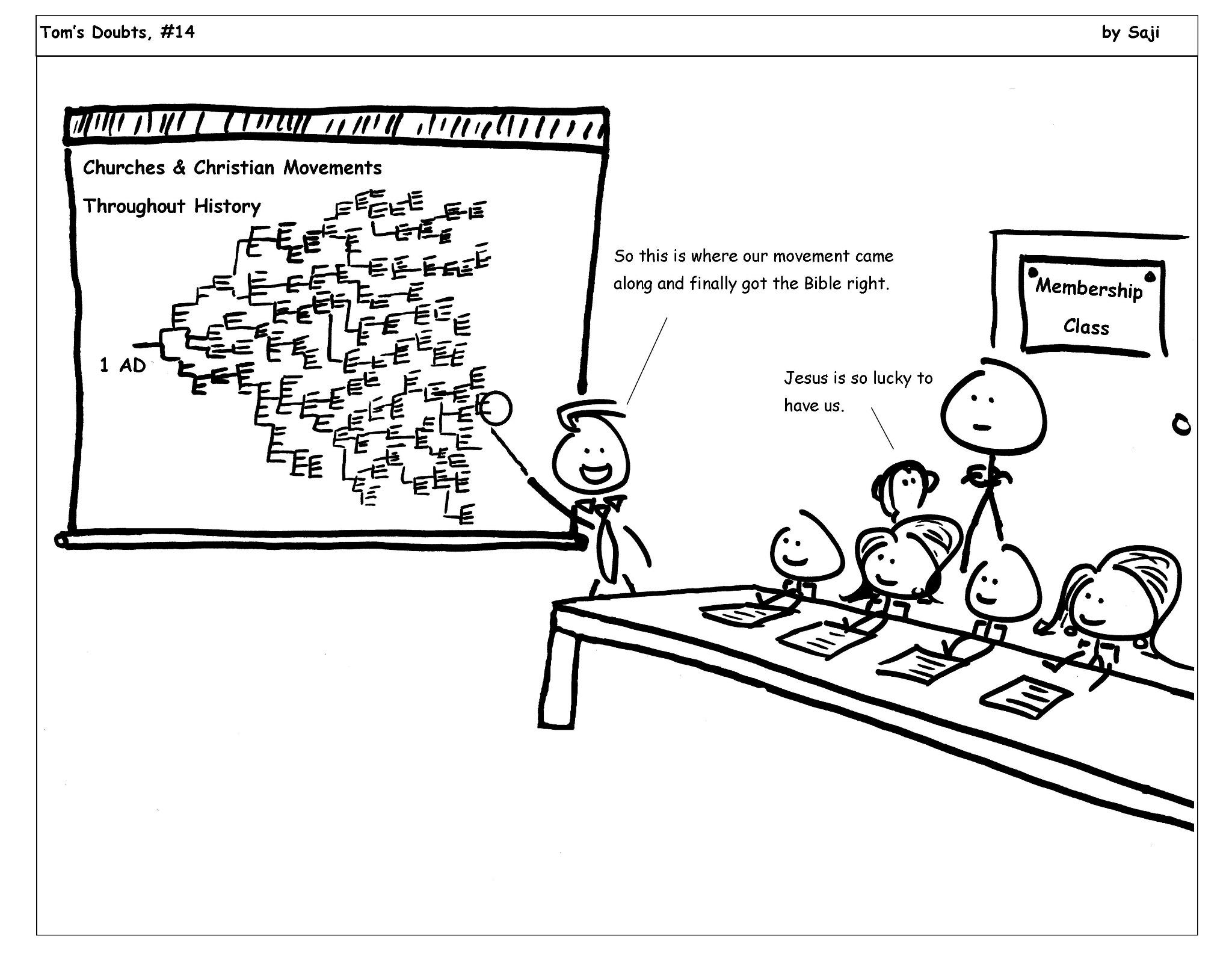 The cartoon Tom's Doubts, #14