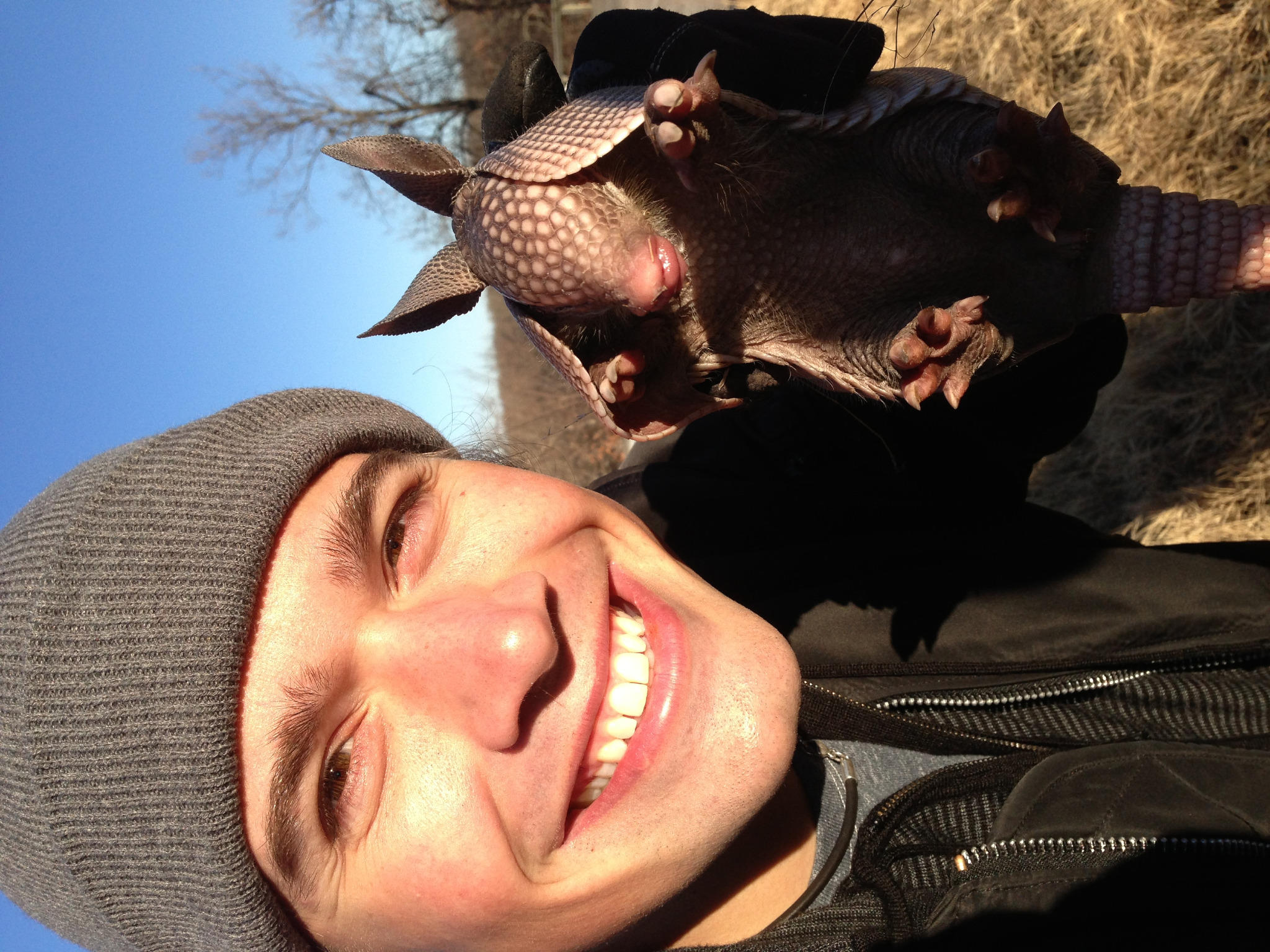 """""""@hansonmusic: I picked up a baby armadillo the other day, and is was awesome, and so cute. http://t.co/F0nDcerr"""" its the holiday armadillo!"""